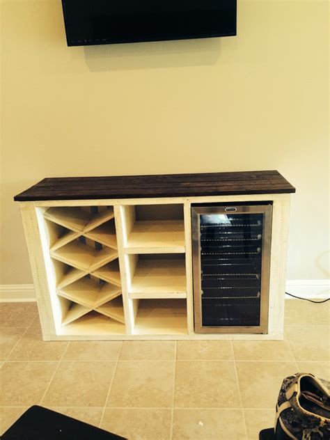 Buffet with wine rack and storage for wine cooler | Buffet