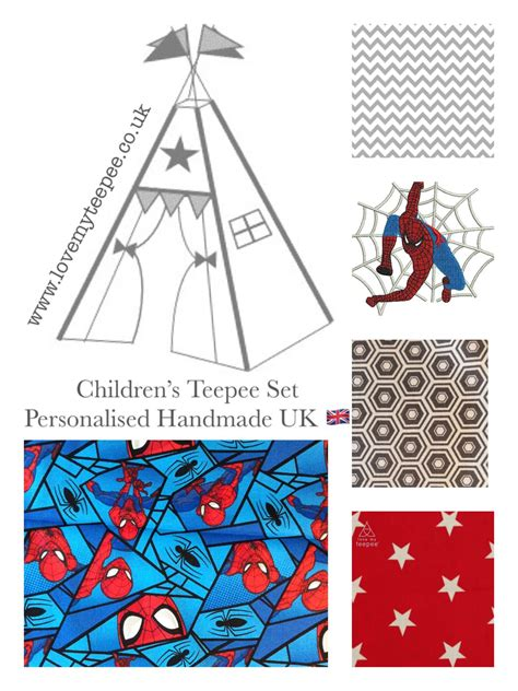 Spiderman Teepee Tent + Mat + Cushions For Kids