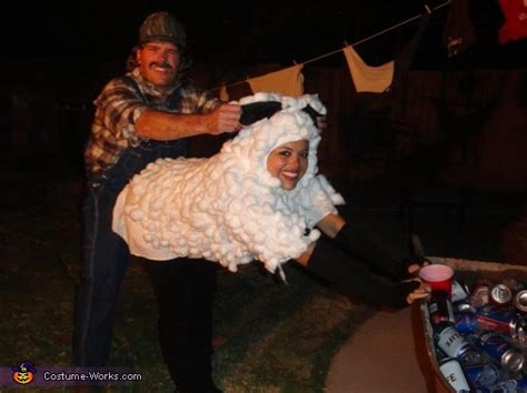 Redneck and Sheep Couple Costume
