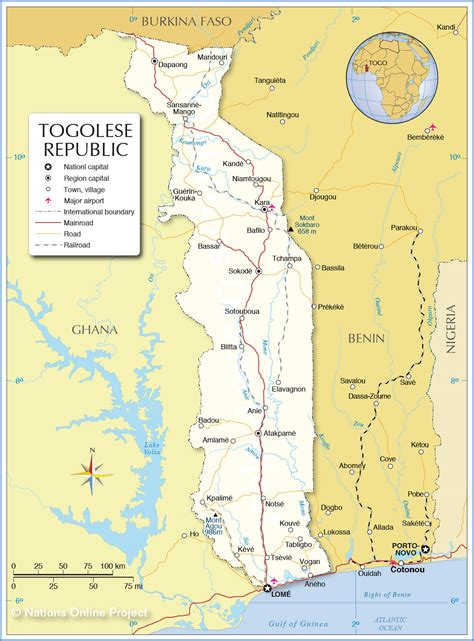 Map of Togolese Republic - Nations Online Project