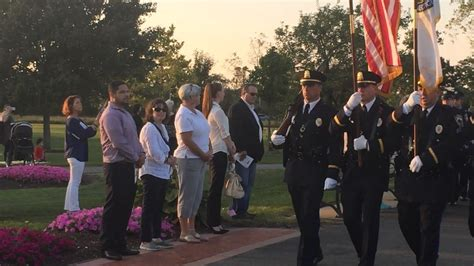 Police, firefighters and officials march in for West Haven