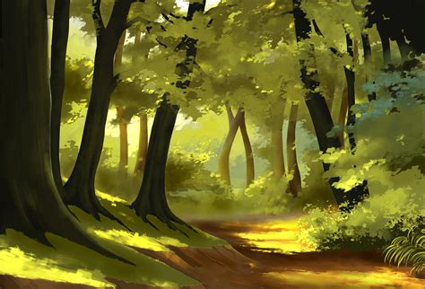 simple forest by StephanBored on DeviantArt