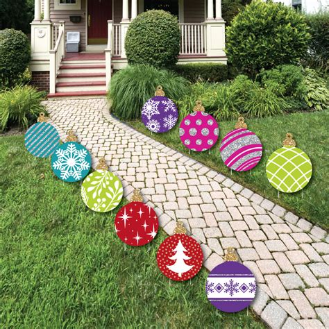 Colorful Ornaments Lawn Decorations - Outdoor Holiday and