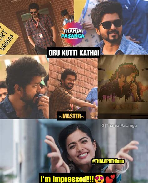 20+ Best Master Movie Kutti Story Song Memes - Tamil Memes