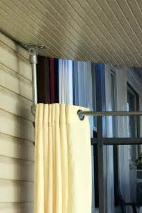DIY Ceiling Mounted Curtain Rods (with Step-by-Step