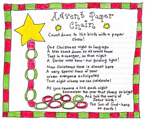 Advent Paper Chain Countdown - FREE Printable - Happy Home
