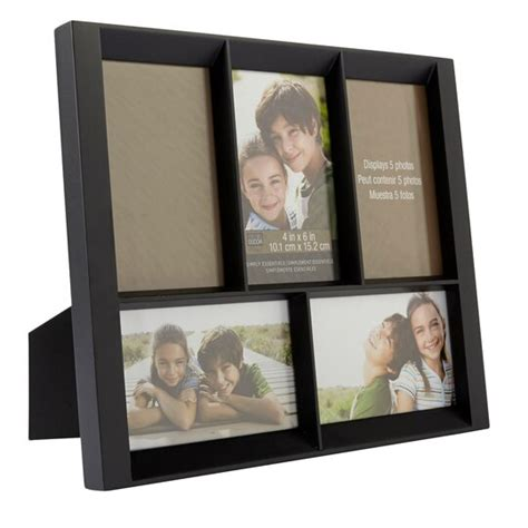 """Black 5-Opening Collage Frame, 4"""" x 6"""", Simply Essentials"""