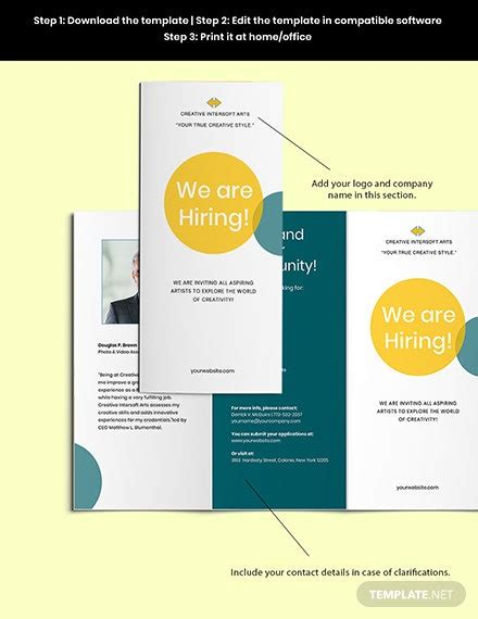 Employment and Hiring Brochure Template [Free PSD