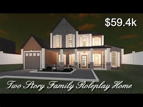 Roblox Bloxburg   Two-Story Family Roleplay House   Home