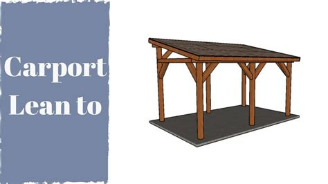 How to build a carport - YouTube
