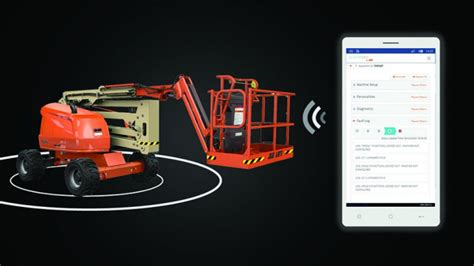 JLG remote analyzer reader diagnoses operational issues on