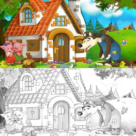 wolf and brick house clipart 20 free Cliparts   Download