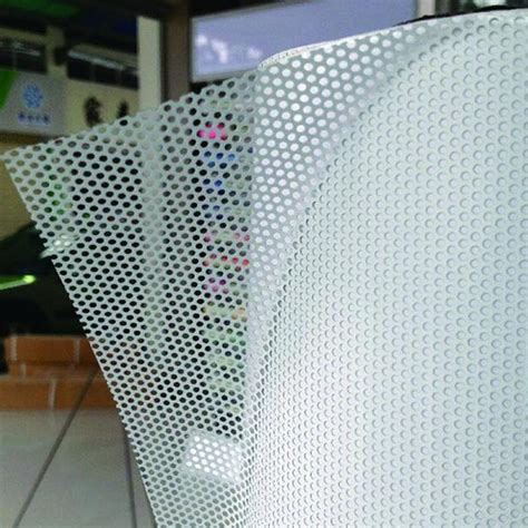 """54""""x20"""" White Perforated One Way Vision Print Media Vinyl"""