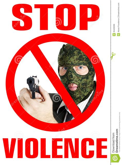 Stop violence poster stock photo