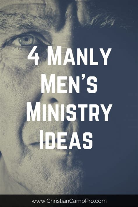 4 Manly Men's Ministry Ideas - Christian Camp Pro