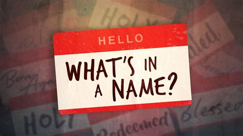 What's in a Name? | Reston Bible Church
