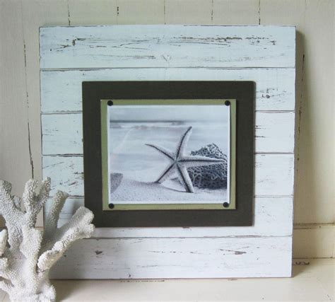 X-tra Large White Distressed 21x21 Plank Frame for 8x10