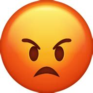 Emoji Anger Emoticon Iphone - Angry Emoji Png Image With