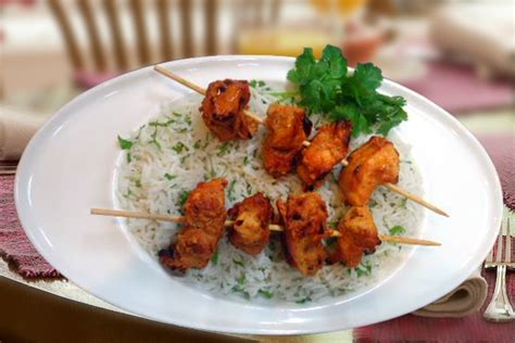 Chicken Tikka On The Bed Of Herb Butter Rice - Sterling