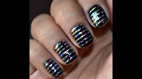 Cute Nail Art Designs With Striping Tape - YouTube