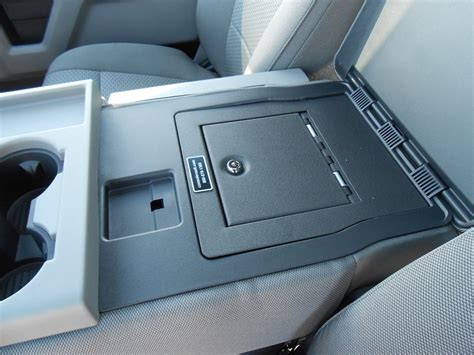 Console Vault Ford F150 Fold Down Arm Rest Vault: 2015