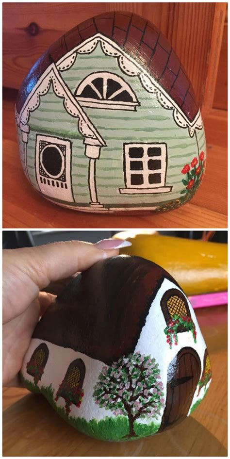 Painted Rock Fairy Houses Pinterest Top Pins - The WHOot