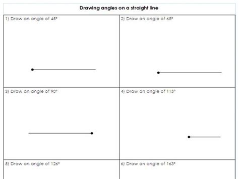 Year 5 /6 - Drawing angles on a straight line