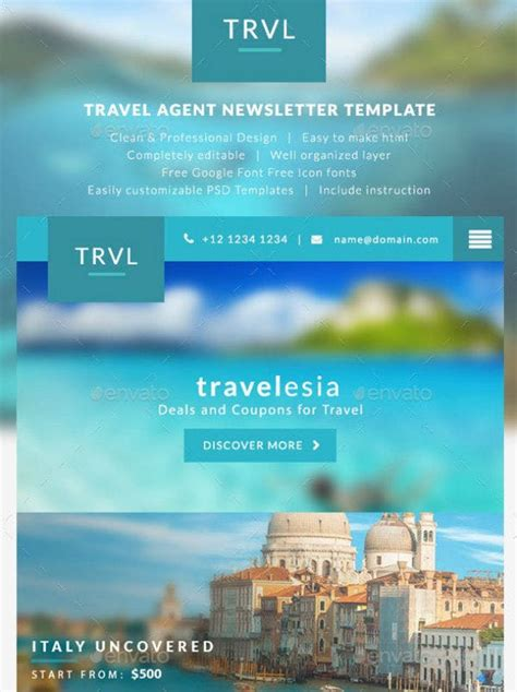 10+ Travel E-mail Newsletter Templates - HTML, Photoshop