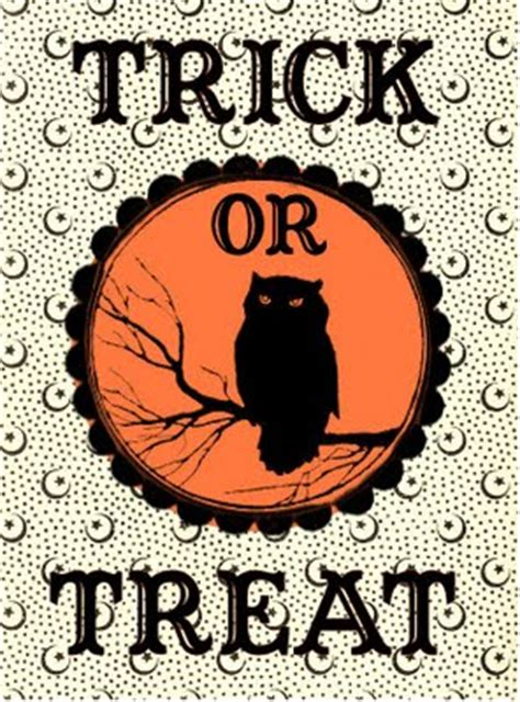 Free Halloween Printable Label-Trick or Treat Bag - The