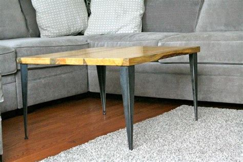 Matched Coffee Table / End Table with Tapered Angle Iron