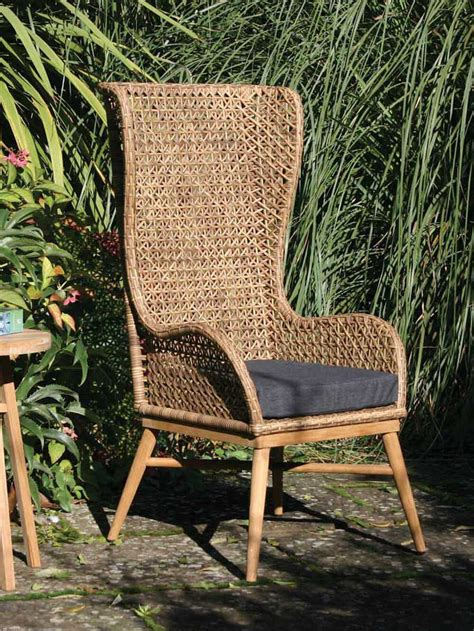 Indoor/Outdoor High Back Chair | High Back Rattan Chair