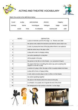 33 Acting And Theatre Terminology Worksheet Answers - Free