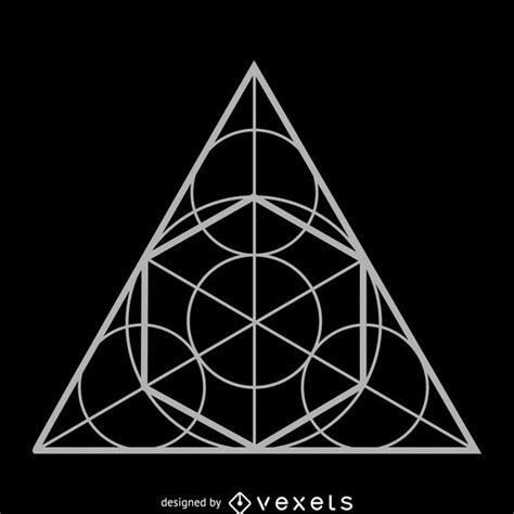 Circle Triangle Sacred Geometry Design - Vector Download