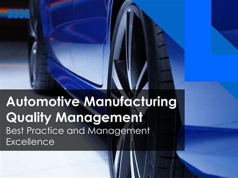 Automotive Manufacturing Quality Management by SSCG