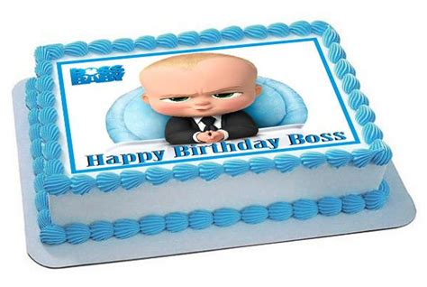 The Boss Baby Edible Cake Topper or Cupcake Toppers