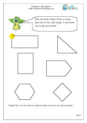 Recognise right angles (2) - Geometry (Shape) by URBrainy