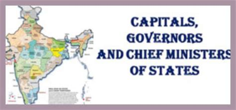 All States Chief Ministers CMs Governors and capitals
