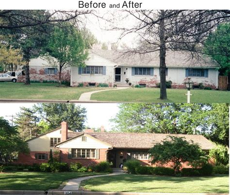 1950's home after & before - Traditional - Exterior - Wichita