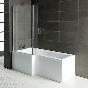 L shape square shower bath 1700 with panels, hinged screen