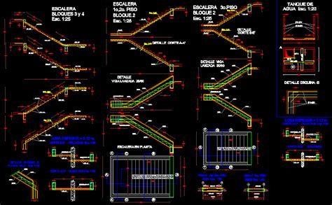Detail staircase in AutoCAD   CAD download (392