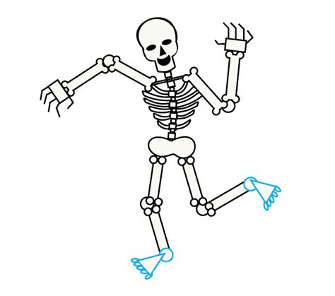 How to Draw a Skeleton   Easy Drawing Guides