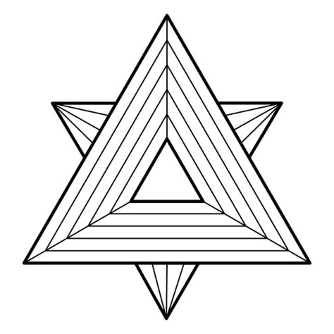 Sacred geometry with triangles - Transparent PNG & SVG